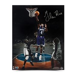 Glen Rice Signed Hornets  Layup in the Garden  8x10 Photo (UDA COA)