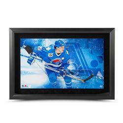 Joe Sakic Signed Nordiques 17x25 Custom Framed Acrylic Stick Blade Shadow Box Display LE 25 (UDA COA