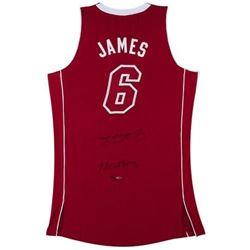 "LeBron James Signed ""Heatles"" Pride Authentic Jersey LE 25 (UDA COA)"