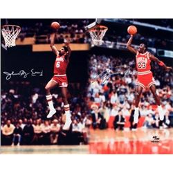 "Michael Jordan  Julius ""Dr. J"" Erving Signed LE 16x20 Photo (UDA COA)"