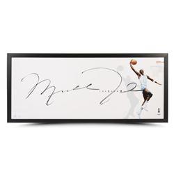 "Michael Jordan Signed LE ""The Show"" UNC Tarheels 20x46 Custom Framed Photo Display (UDA COA)"