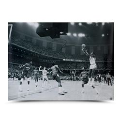 "Michael Jordan Signed Bulls ""1982 NCAA Championship Shot"" 30x40 Photo (UDA COA)"