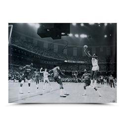 "Michael Jordan Signed Bulls ""1982 NCAA Championship Shot"" 30x40 Photo (UDA COA)"