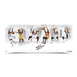 "Shquille O'Neal Signed ""Shaq Attack"" LE 15x36 Photo (UDA COA)"