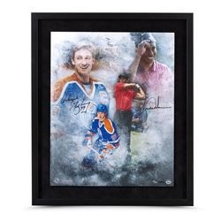 "Tiger Woods  Wayne Gretzky Signed ""Rarefied Air"" LE 20x24 Custom Framed Photo (UDA COA)"