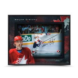 "Wayne Gretzky Signed Team Canada ""Center Ice"" 16x20x2 Shadowbox Display (UDA COA)"