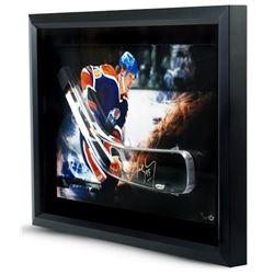 Wayne Gretzky Signed Oilers LE 16x24 Custom Framed Hockey Stick Blade Shadowbox Display (UDA COA)
