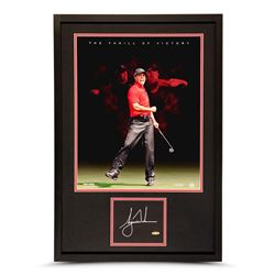 """Tiger Woods Signed """"Thrill of Victory"""" LE 20x30 Custom Framed Photo Display (UDA COA)"""