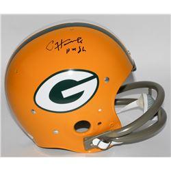 "Paul Hornung Signed Packers Full-Size TK Suspension Helmet Inscribed ""HOF 86"" (JSA COA)"