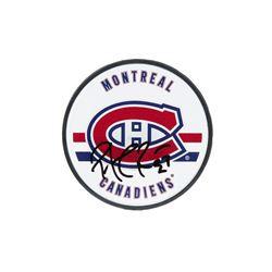 Patrick Roy Signed Canadiens Logo Hockey Puck (UDA COA)