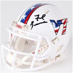 Frank Beamer Signed Virginia Tech Hokies Mini Helmet (PSA COA)