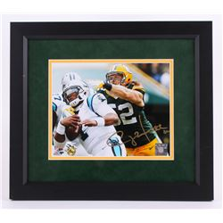 "Clay Matthews Signed 14.5""x16.5"" Custom Framed Photo Display (Matthews Hologram)"