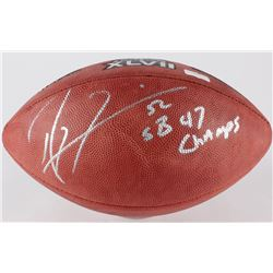 "Ray Lewis Signed Official Super Bowl XLVII Game Ball Inscribed ""SB 47 Champs"" (Radtke Hologram)"