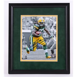 """Eddie Lacy Signed Packers 13.5""""x15.5"""" Custom Framed Photo Display (Legends of the Field Hologram)"""