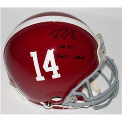 "Trent Richardson Signed Alabama Crimson Tide Full-Size Authentic On-Field Helmet Inscribed ""09  11 N"