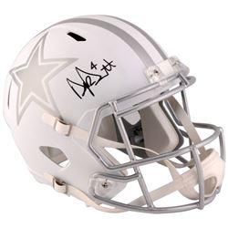 Dak Prescott Signed Cowboys Custom Matte White Speed Ice Full-Size Helmet (Fanatics)