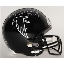 """Morten Andersen Signed Falcons Full-Size Helmet Inscribed """"Hall of Fame 2017"""" (Radtke Hologram)"""