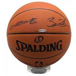 LeBron James  Dwyane Wade Signed Basketball LE 136 (UDA COA)