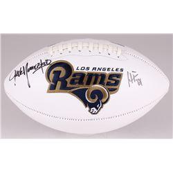 "Jack Youngblood Signed Rams Logo Football Inscribed ""HF '01"" (JSA COA)"