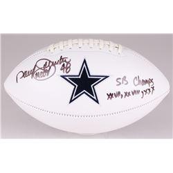 "Daryl ""Moose"" Johnston Signed Cowboys Logo Football Inscribed ""SB Champs XXVII, XXVIII, XXX"" (JSA CO"