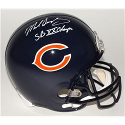 "Mike Singletary Signed Bears Full-Size Helmet Inscribed ""SB XX Champs"" (JSA COA)"