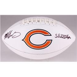 """Mike Singletary Signed Bears Logo Football Inscribed """"SB XX Champs"""" (JSA COA)"""