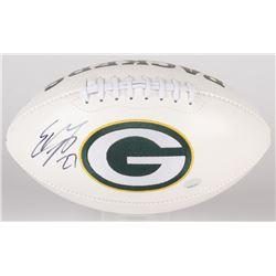 Eddie Lacy Signed Packers Logo Football (Radtke COA  Eddie Lacy Hologram)
