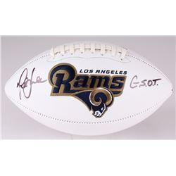 "Marshall Faulk Signed Rams Logo Football Inscribed ""G.S.O.T."" (JSA COA)"