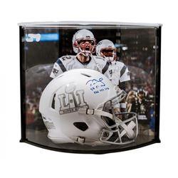 "Tom Brady Signed LE Super Bowl 51 Custom Matte White ICE Authentic Proline Speed Helmet Inscribed ""S"