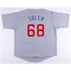 Jorge Soler Signed Cubs Jersey (Schwartz COA)