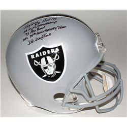 Ray Guy Signed Raiders Full-Size Helmet with (5) Inscriptions JSA COA)