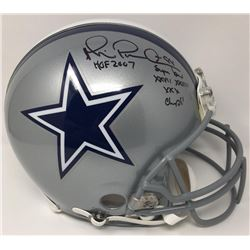 "Michael Irvin Signed LE Cowboys Full-Size Authentic Proline Helmet Inscribed ""HOF 07""  ""Super Bowl X"