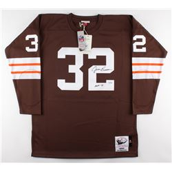 "Jim Brown Signed Browns Jersey Inscribed ""HOF 71"" (Fanatics Hologram)"