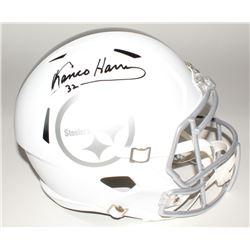 Franco Harris Signed Steelers Custom Matte White Full-Size Speed Ice Helmet (JSA COA)