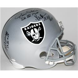 Raiders Super Bowl MVP Full-Size Helmet Signed by (3) with Jim Plunkett, Fred Biletnikoff  Marcus Al