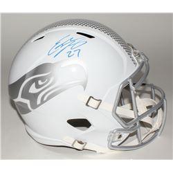 Eddie Lacy Signed Seahawks Custom Matte White Full-Size Speed Ice Helmet (Lacy Hologram)