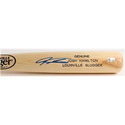 Josh Hamilton Signed Louisville Slugger Custom Engraved Baseball Bat (MLB Hologram)