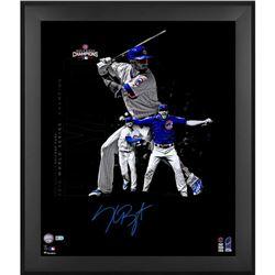 "Kris Bryant Signed Cubs 23.5"" x 27.5"" Custom Framed Photo (MLB  Fanatics)"