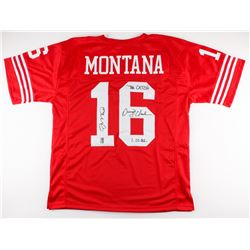 "Joe Montana  Dwight Clark Signed 49ers Jersey  Inscribed ""The Catch"", ""1.10.82"" (JSA COA  Montana Ho"