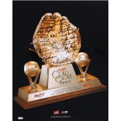 Gold Glove Award 16x20 Photo Signed by (23) with Andre Dawson, Paul Blair, Bobby Shantz, Bob Boone,
