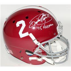 """Derrick Henry Signed Alabama Crimson Tide Full-Size Helmet Inscribed """"'15 Heisman"""" (Henry Hologram)"""