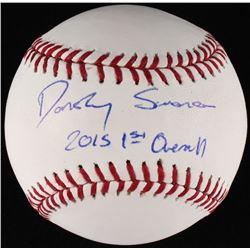 """Dansby Swanson Signed OML Baseball Inscribed """"2015 1st Overall"""" (JSA COA)"""