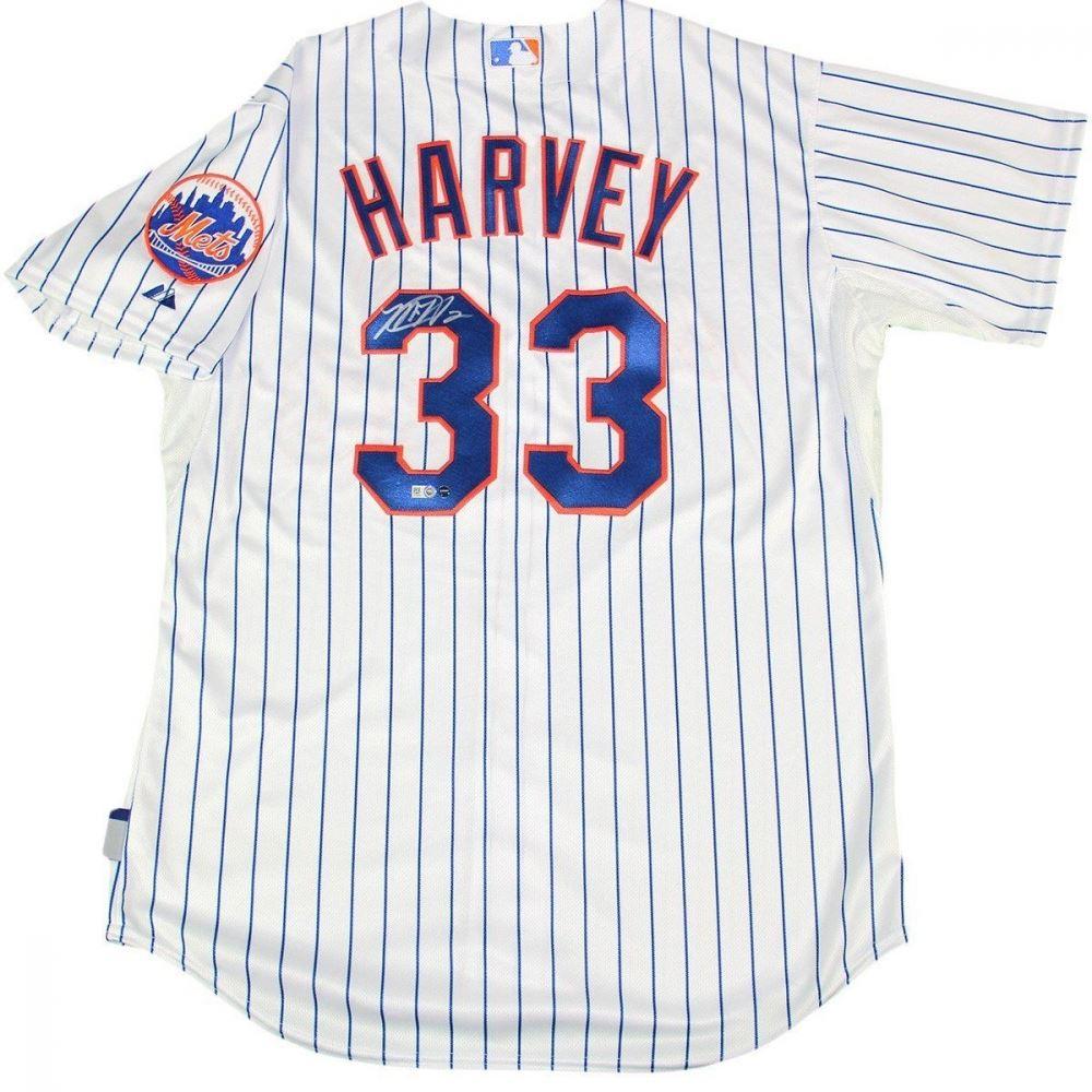differently 36dda 1990c Matt Harvey Signed Mets Jersey (Steiner COA MLB Hologram)