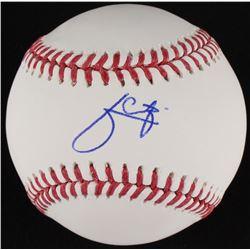 Julio Urias Signed OML Baseball (MLB Hologram)