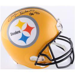 "Jack Lambert Signed Steelers Full-Size Helmet Inscribed ""HOF '90"" (JSA COA)"
