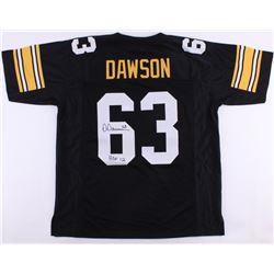"""Dermontti Dawson Signed Steelers Jersey Inscribed """"HOF 12"""" (JSA COA)"""