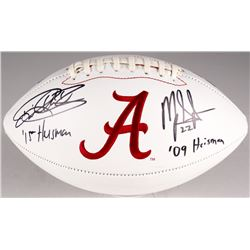 "Derrick Henry  Mark Ingram Signed University of Alabama Crimson Tide Logo Football Inscribed ""2015 H"