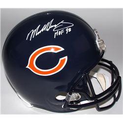"""Mike Singletary Signed Bears Full-Size Helmet Inscribed """"HOF 98"""" (Radtke COA)"""