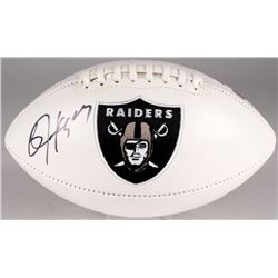 Bo Jackson Signed Raiders Logo Football (Jackson Hologram)
