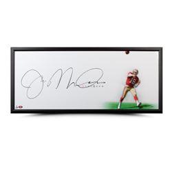 """Joe Montana Signed """"The Show"""" 20x46 Custom Framed Photo (UDA COA)"""